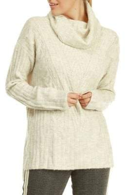 Dex Cowl Neck Cable Knit Sweater