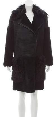 Zac Posen Shearling Lilian Coat w/ Tags