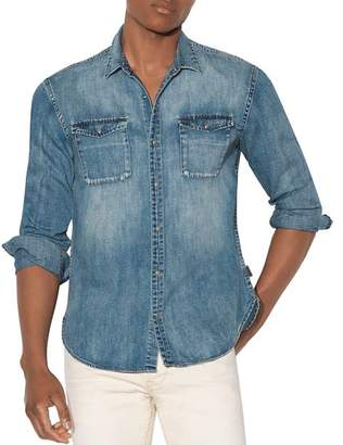 John Varvatos Regular Fit Denim Shirt