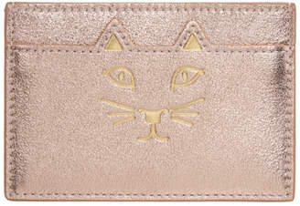 Charlotte Olympia Pink Feline Card Holder