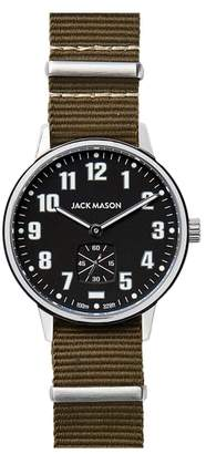 Jack Mason Field Nylon Strap Watch, 38mm