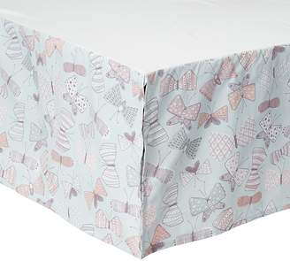 DwellStudio Dwell Studio Arden Butterfly Print Crib Skirt, Violet/Pink/Gray
