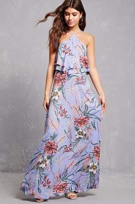 Forever 21 Floral Halter Maxi Dress
