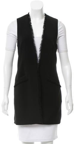 Elizabeth And JamesElizabeth and James Raw-Edged Collarless Vest