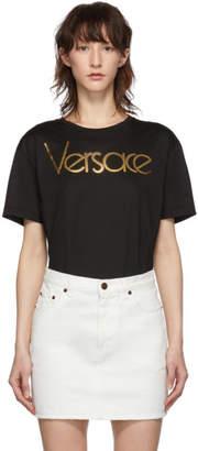 Versace Black Gold Logo T-Shirt