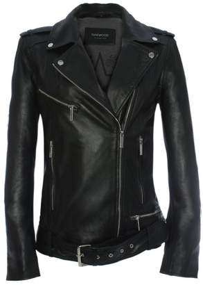 Oakwood Music Oversized Black Leather Biker Jacket