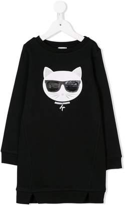 Karl Lagerfeld cat print dress