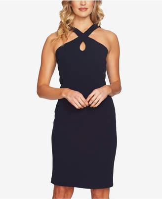 CeCe Crisscross Keyhole Dress