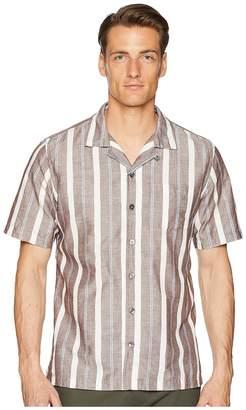 Todd Snyder Short Sleeve Wide Stripe Shirt Men's Short Sleeve Button Up