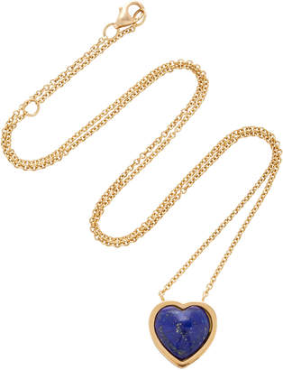 Lapis Brent Neale Small Puff Heart Pendant Necklace