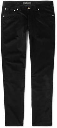 Brioni Slim-Fit Stretch-Cotton Corduroy Trousers