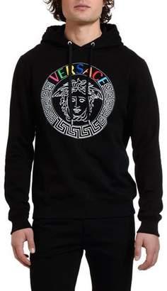 Versace Men's Multicolor Medusa Hoodie