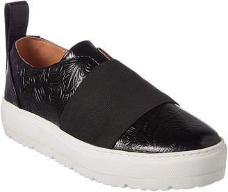 Jil Sander Navy Leather Sneaker