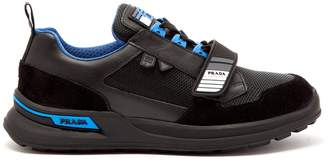 Prada Logo-embellished chunky leather trainers