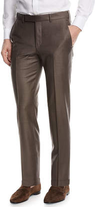 Ermenegildo Zegna Trofeo Wool Dress Pants, Brown
