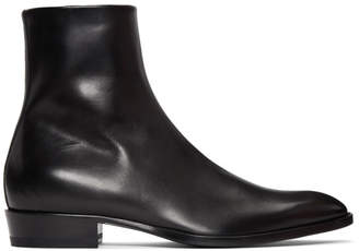 Saint Laurent Black Wyatt Boots