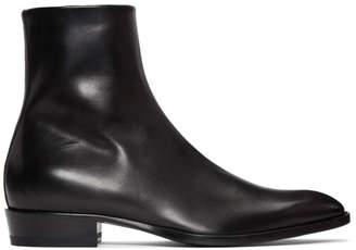 Saint Laurent Black Wyatt Boots