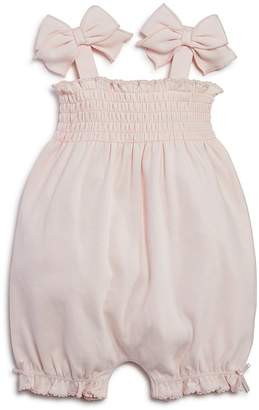 Bloomie's Girls' Smocked Romper, Baby - 100% Exclusive