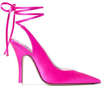 ATTICO Monia Satin Pumps - Fuchsia