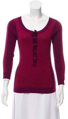 Marc by Marc Jacobs Ruffled Knit Sweater
