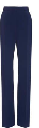 Carolina Herrera Tailored Straight Leg Crepe Pant