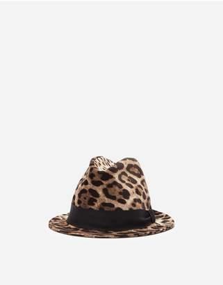Dolce & Gabbana Leopard-Print Fedora