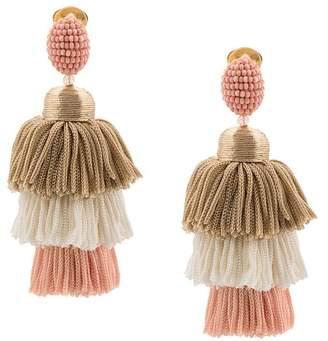 Oscar de la Renta tiered tasssel earrings