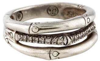 John Hardy Diamond Bamboo Ring