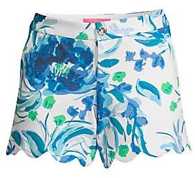 Lilly Pulitzer Women's Buttercup Floral Print Knit Shorts - Size 0