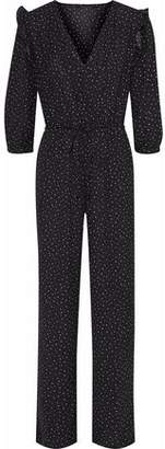 Walter W118 By Baker Mona Wrap-Effect Polka-Dot Crepe De Chine Jumpsuit