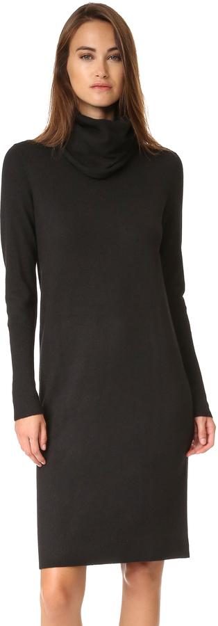 DKNY Pure DKNY Cowl Neck Sweater Dress