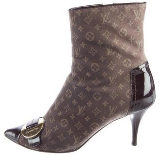 Louis Vuitton Monogram Idylle Ankle Boots