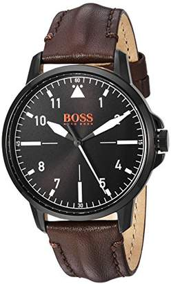 HUGO BOSS BOSS Orange Men's 'Chicago' Quartz Stainless Steel and Leather Casual Watch