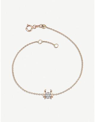 Rosegold The Alkemistry Kismet by Milka 14ct rose-gold and diamond Cancer bracelet