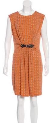 Michael Kors Abstract Print Ruched Mini Dress w/ Tags Orange Abstract Print Ruched Mini Dress w/ Tags