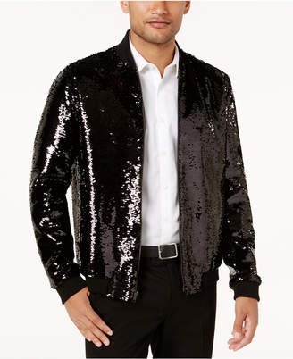 INC International Concepts I.n.c. Men's Sequin Bomber Jacket