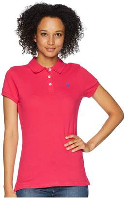 U.S. Polo Assn. Solid Pique Polo Women's Short Sleeve Knit