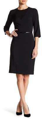 BOSS HUGO BOSS Diabina Wool Blend Dress $575 thestylecure.com