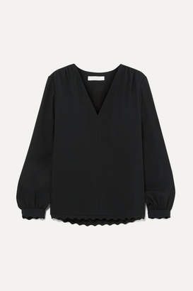 Chloé Scalloped Cady Blouse - Black