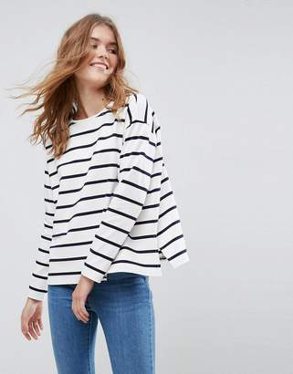 ASOS Stripe T-Shirt in Baby Loop Back $29 thestylecure.com