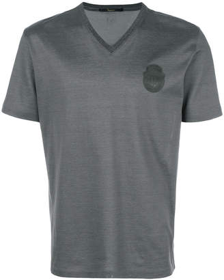 Billionaire V-neck patch T-shirt