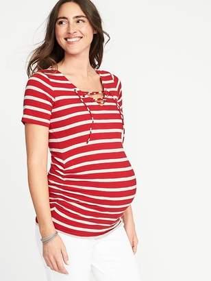 Old Navy Maternity Lace-Up-Yoke Tee