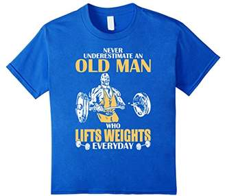 Never Underestimate An Old Man Who Lifts Weights TShirt