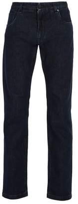 Fendi Mid Rise Slim Leg Jeans - Mens - Denim