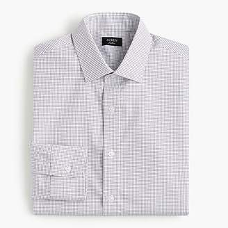 J.Crew Ludlow stretch two-ply easy-care cotton dress shirt in microcheck