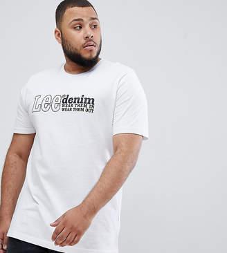 Lee plus denim t-shirt white