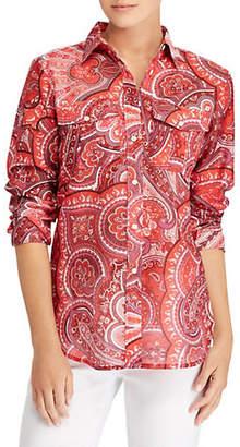 Lauren Ralph Lauren Petite Courtenay Long-Sleeve Button-Down Shirt