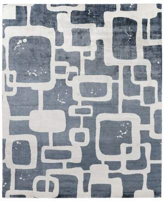 Exquisite Rugs Coyle Area Rug, Abstract Squares 9' x 12'