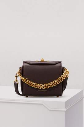 Alexander McQueen Grained Leather Mini Shoulder Box Bag
