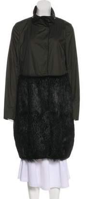 Marni Fur-Paneled Knee-Length Coat
